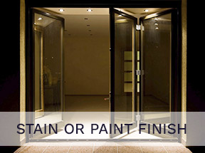 stain or paint finish